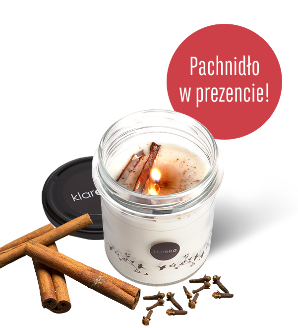 świece zapachowe pachnące świecidło 200g cynamon i goździki klareko ekologiczne środki czystości czyli kosmetyki dla domu