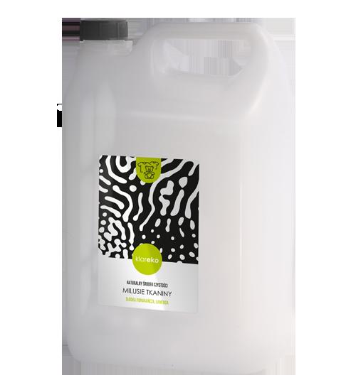 Naturalne środki czystości klareko Płyn zmiękczający do tkanin Milusie Tkaniny klareko 5 litrów Słodka Pomarańcza, Lawenda