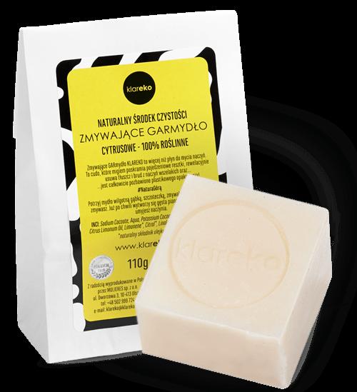 Naturalne roślinne mydło do mycia naczyń Zmywające GARmydło klareko naturalne środki czystości